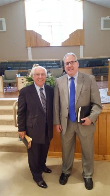Pastor John Renalds and Dr. Andrew Knight